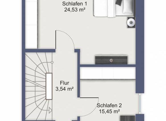 OG mit 2 Zimmern 123